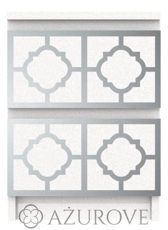 Panel Ażurowy Z Lustra Akrylowego Do Komody Ikea Malm Z 2 Szufladami